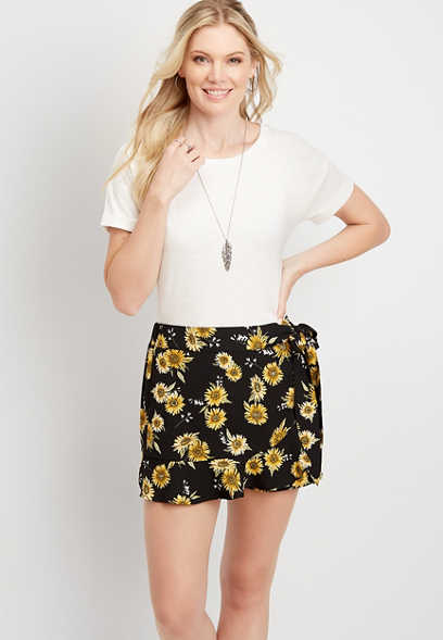 Sunflower Printed Skort