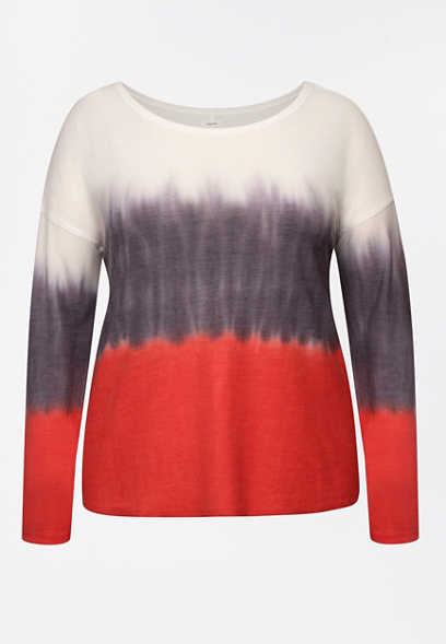 Plus Size Americana Long Sleeve Pullover