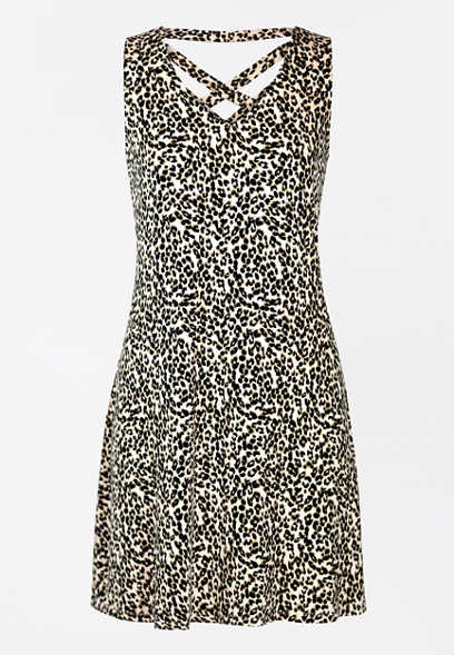 24/7 Leopard Strappy Back Dress