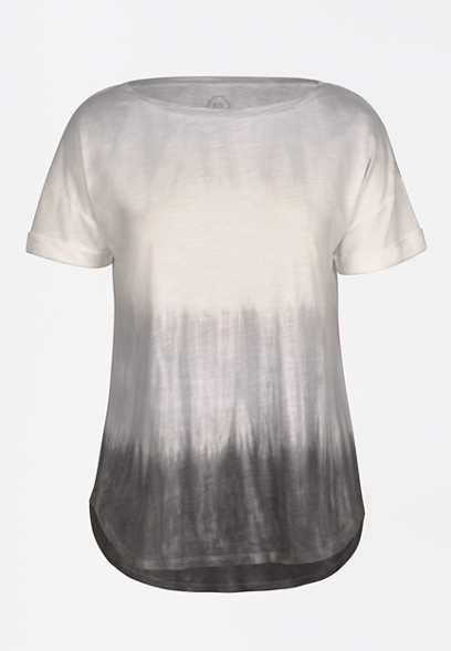 24/7 Tie Dye Stripe Drop Shoulder Tee