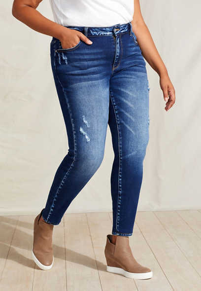 Plus Size KanCan™ High Rise Dark Wash Skinny Jean