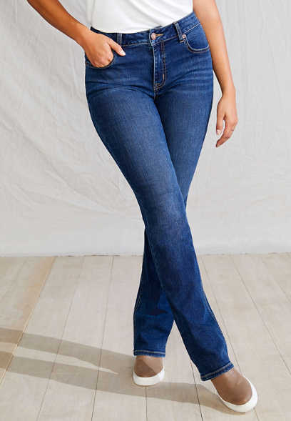 m jeans by maurices™ High Rise Curvy Dark Wash Slim Boot Jean