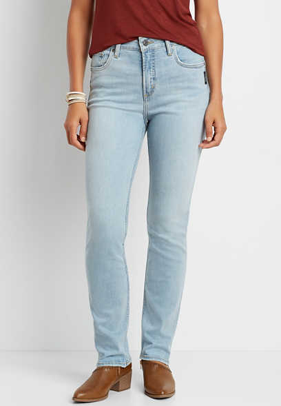 Silver Jeans Co.® Avery High Rise Light Straight Leg Jean