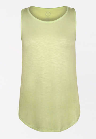 24/7 Lime High Neck Tank Top
