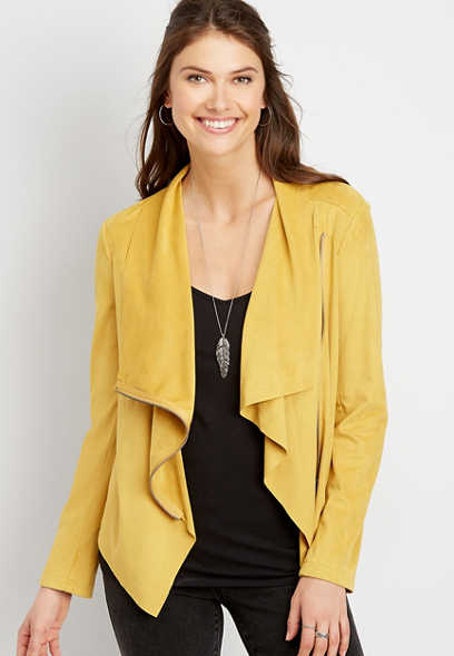 Vigoss® Faux Suede Wrap Jacket
