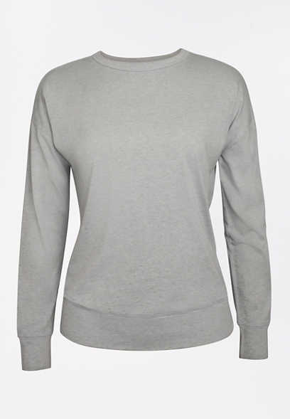 Solid Long Sleeve Pullover