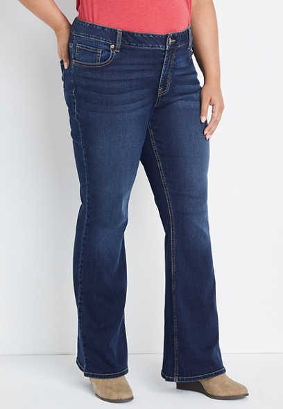 Plus Size m jeans by maurices™ Dark Wash Flare Leg Jean