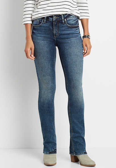 Silver Jeans Co.® Elyse Dark Blast Slim Boot Jean