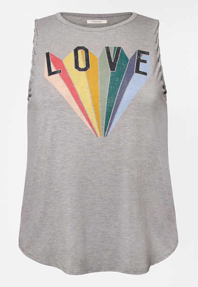 Plus Size Pride Love Graphic Tank Top