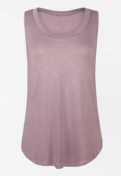 24/7 Solid Scoop Neck Tank Top