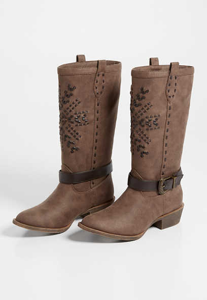 Ally Buckle Stitch Tall Boot