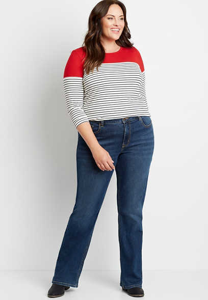 Plus Size mJeans by maurices™ High Rise Curvy Dark Wash Slim Boot Jean