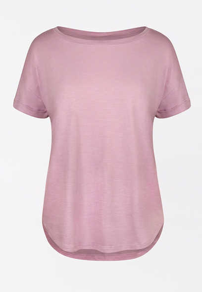 24/7 Lavender Drop Shoulder Tee