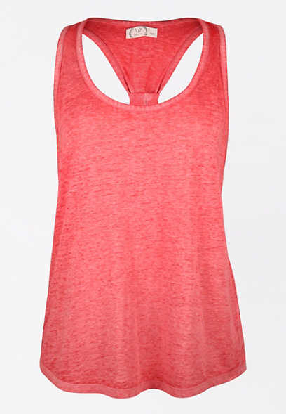 24/7 Solid Knotted Back Tank Top