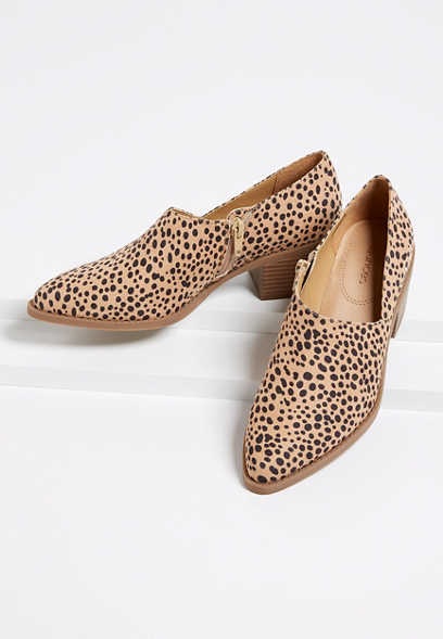 Amanda Leopard Stitch Low Side Shootie