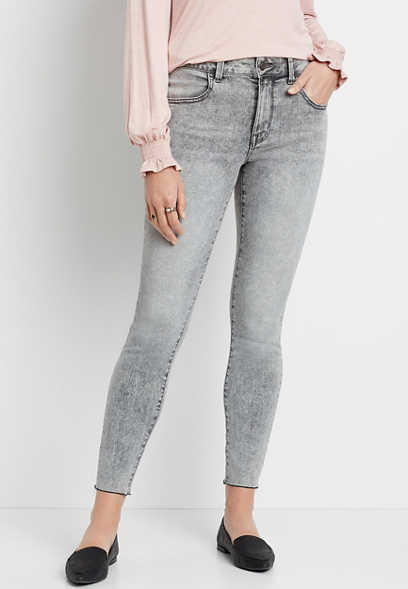 DenimFlex™ High Rise Gray Marbled Colored Jegging