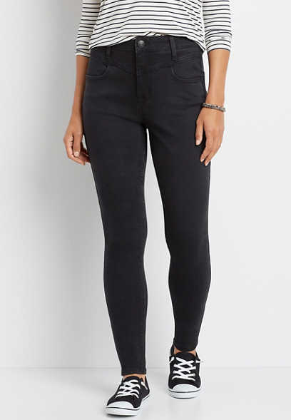 DenimFlex™ Super High Rise Black V Yoke Jegging
