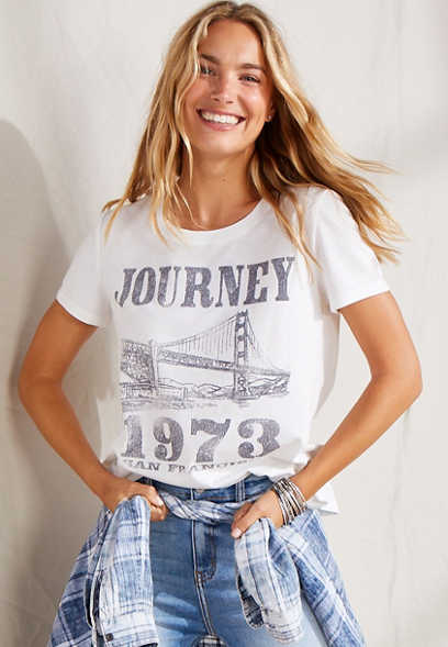 White Journey 1973 Graphic Tee