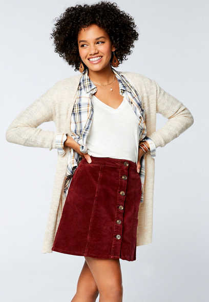 Solid Lace Up Back Open Front Cardigan
