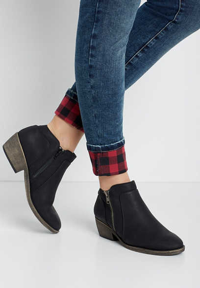 Abigail Side Zipper Ankle Bootie
