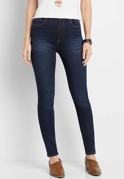 Vigoss® High Rise Super Dark Wash Skinny Jean