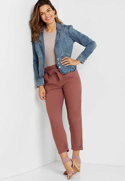 Medium Peplum Denim Blazer