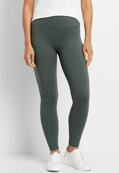 High Rise Olive Full Length Luxe Legging