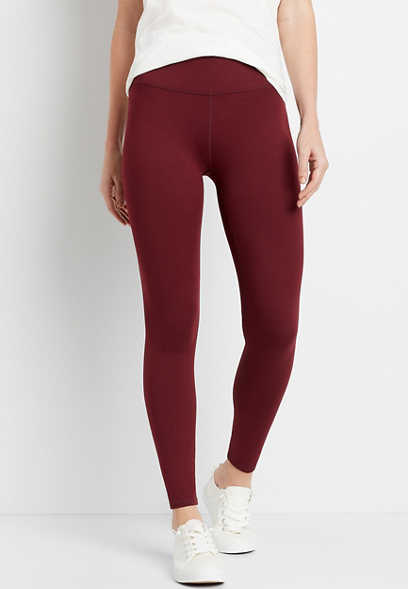 High Rise Berry Active Full Length Legging