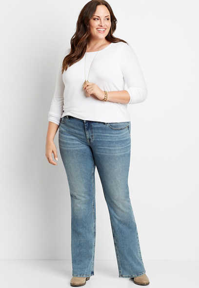 Plus Size m jeans by maurices™ Medium Wash Bootcut Jean