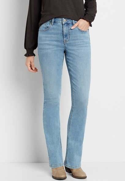 m jeans by maurices™ High Rise Light Wash Slim Boot Jean