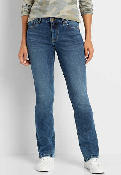 m jeans by maurices™ High Rise Curvy Medium Wash Bootcut Jean
