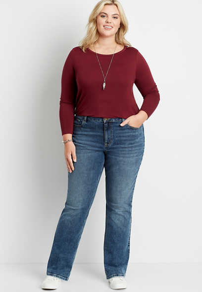 Plus Size m jeans by maurices™ High Rise Curvy Medium Wash Bootcut Jean