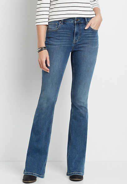 m jeans by maurices™ High Rise Medium Wash Flare Leg Jean