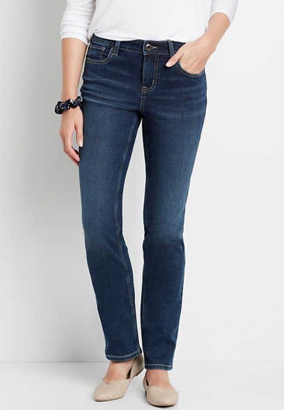 m jeans by maurices™ Dark Wash Straight Leg Jean