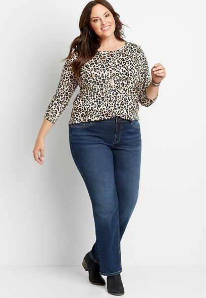 Plus Size m jeans by maurices™ Dark Wash Straight Leg Jean