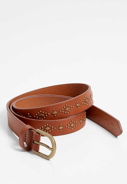 Plus Size Gold Embellished Belt