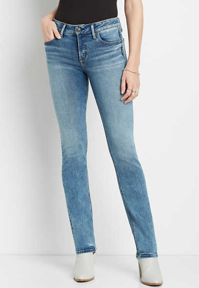 Silver Jeans Co.® Avery High Rise Medium Straight Leg Jean