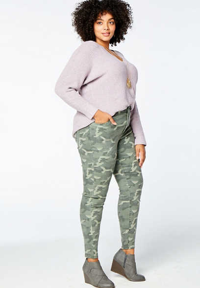 Plus Size DenimFlex™ High Rise Camo Print Jegging