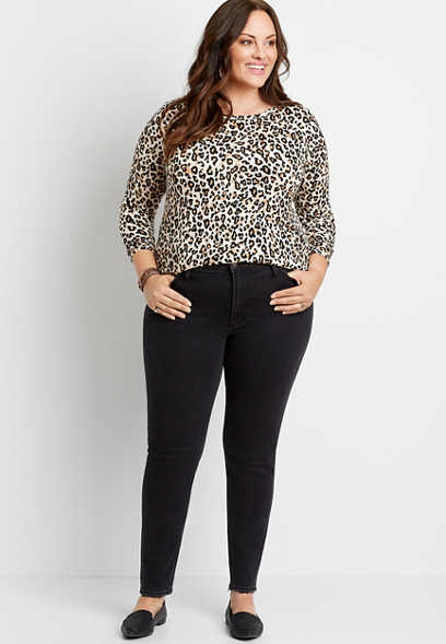 Plus Size Silver Jeans Co.® High Note High Rise Black Skinny Jean