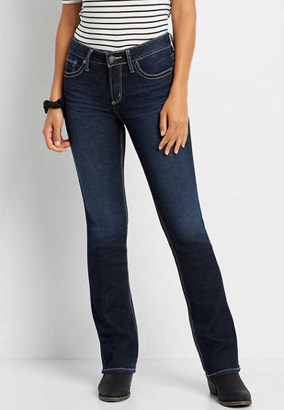 Silver Jeans Co.® Suki Dark Wash Thick Stitch Slim Boot Jean