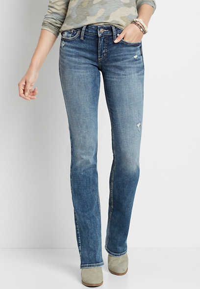 Maurices Vintage High Rise Medium Cuffed Slim Straight Leg Jean