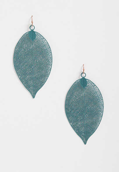 Patina Cut Out Drop Earrings