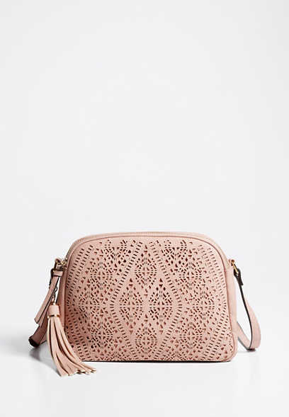 Diamond Perforated Crossbody Bag