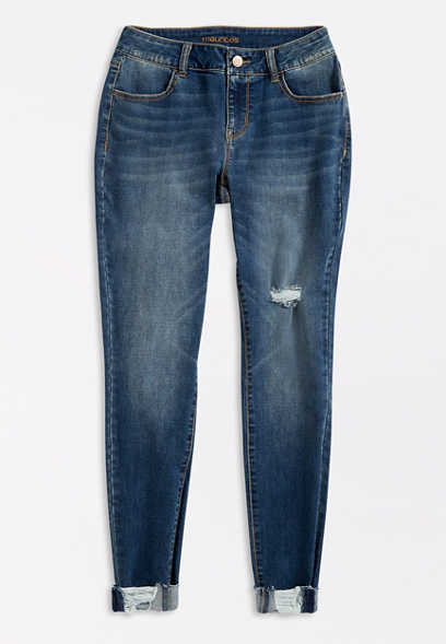 DenimFlex™ Medium Destructed Cuffed Jegging