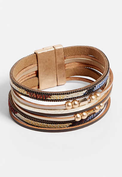 Multi Color Row Magnetic Bracelet