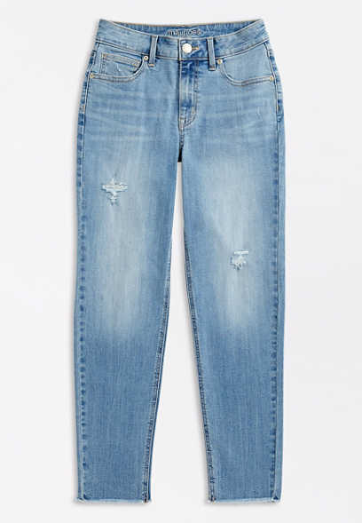 DenimFlex™ High Rise Medium Slim Straight Leg Jean