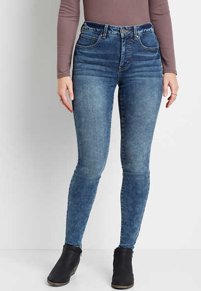 Everflex™ High Rise Marble Wash Super Skinny Jean