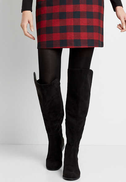 Ella Black Over The Knee Tall Boot