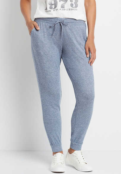 Heather Blue Super Soft Cozy Jogger Pant