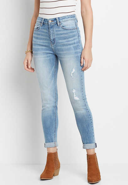 KanCan™ Super High Rise Medium Wash Mom Jean